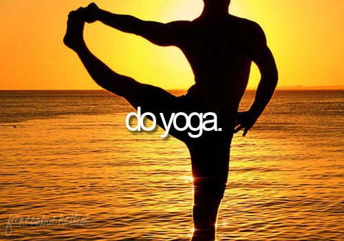 I would love love love to learn to do yoga, and be able to do it without any trouble.