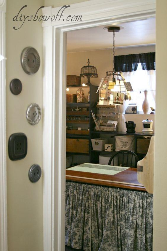 vintage inspired craft room @diyshowoff.com