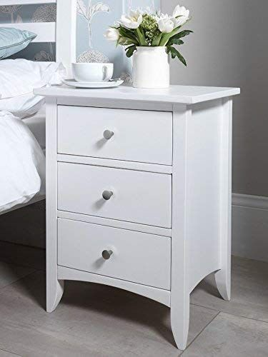 Varsha Furniture Bed Side Table In 2020 Small White Bedside Table White Desk With Drawers White Bedside Table