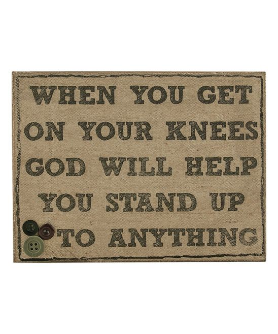 'On Your Knees' Sign