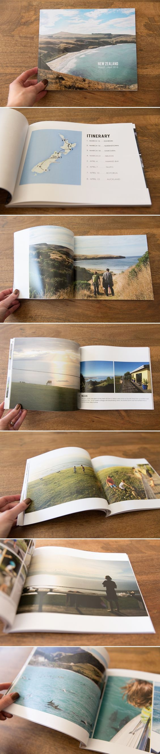 Photobook layout ideas - particularly the itinerary