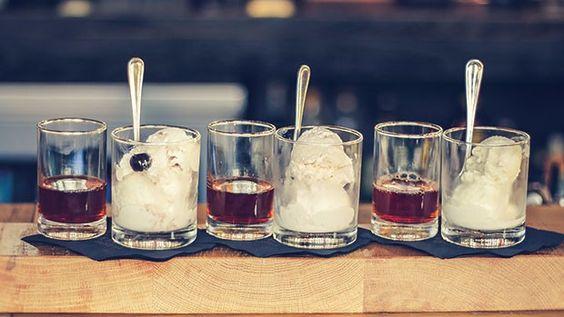 gamlin whiskey house ice cream flight