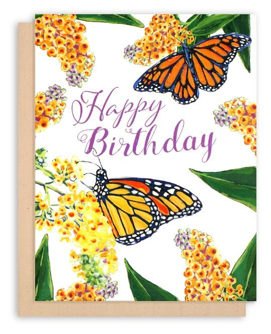 Monarch Butterfly Birthday Card Butterfly Happy Birthday Tilia Press Butterfly Birthday Cards Happy Birthday Greeting Card Happy Birthday Gifts