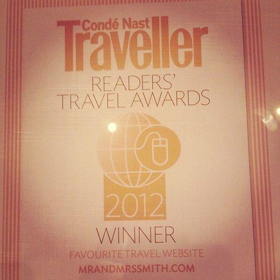 F'real. That's our award! #readersaward Conde Nast Traveller
