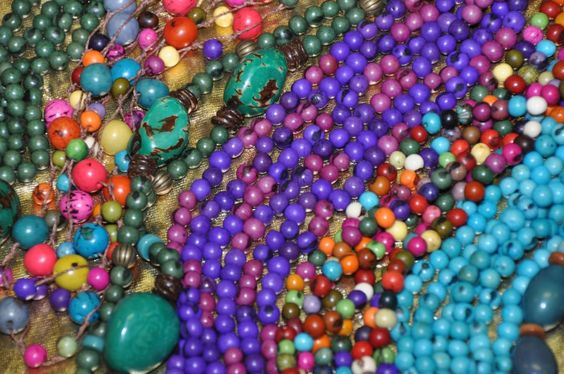 açai seed necklaces // made by Sonya Reimer - photo by Rosanna Parry