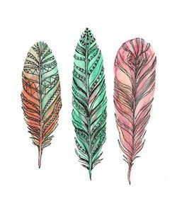 feathers, you could add more watercolor effects to the individual feather you find most appealing