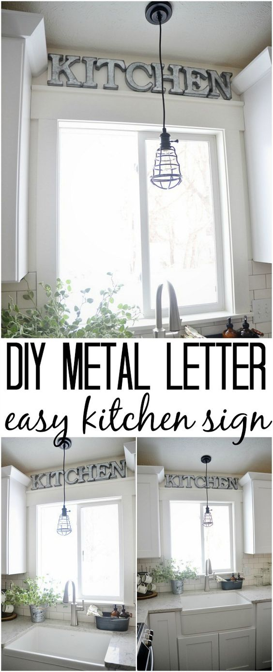 10 modest kitchen area organization and diy storage ideas for Kitchen letters decoration