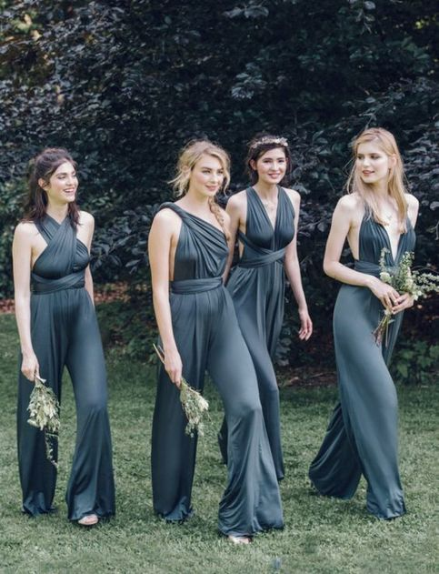 New Arrival Jumpsuits Bridesmaid Dress Convertible Rompers For Wedding Bridesmaids Jumpsuits Bridesmaid Dresses Bridesmaid Pants