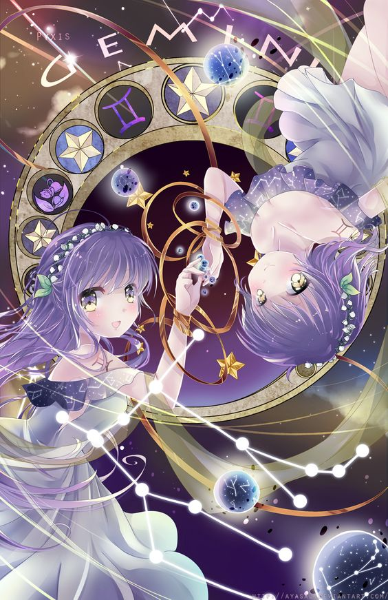 Gemini [Zodiacal Constellations] by Ayasal.deviantart.com on @DeviantArt