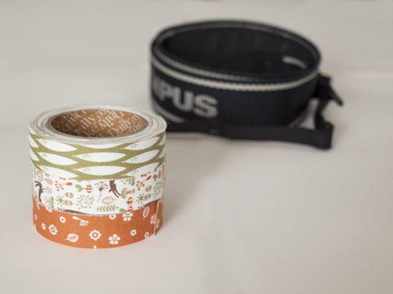 diy: correa de cámara con fabric tape | how to custom  your camera strap with fabric tape