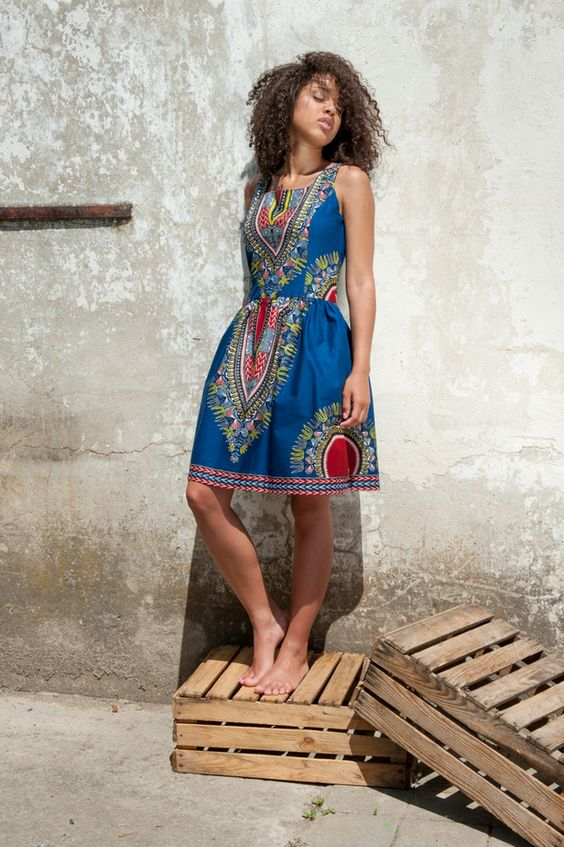 Midi Dresses – Dress from Gambia - Addis Abeba – a unique product by KOKOworld on DaWanda