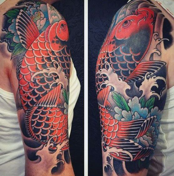 60 Japanese Half Sleeve Tattoos For Men Manly Design Ideas Half Sleeve Tattoo Japanese Tattoo Half Sleeve Tattoos Designs