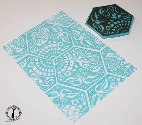 Handcarved stamps. Classes from Pablo Salvaje:
