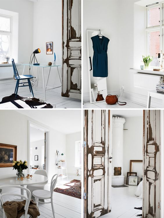 elegant scandinavian apartment design with chic home office dressing room dining room shabby doors chic office ideas 15 chic