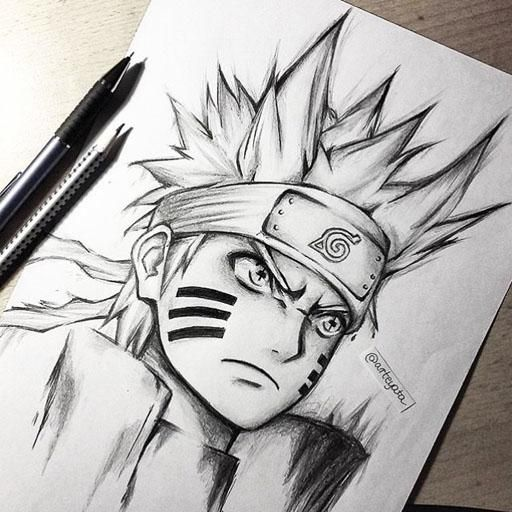 Learn Tutorial Drawing Anime Naruto Step By Step Like A