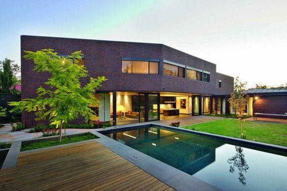 Casamodernafachadadeladrillo HOME Pinterest - Beautiful interiors with asian influences tarrytown residence by webber studio architects
