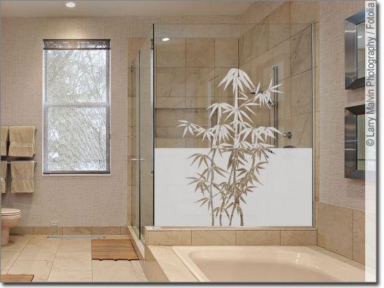 Sichtschutz Mit Asia Bambus Sichtschutzfolie Bambus Fensterfolie