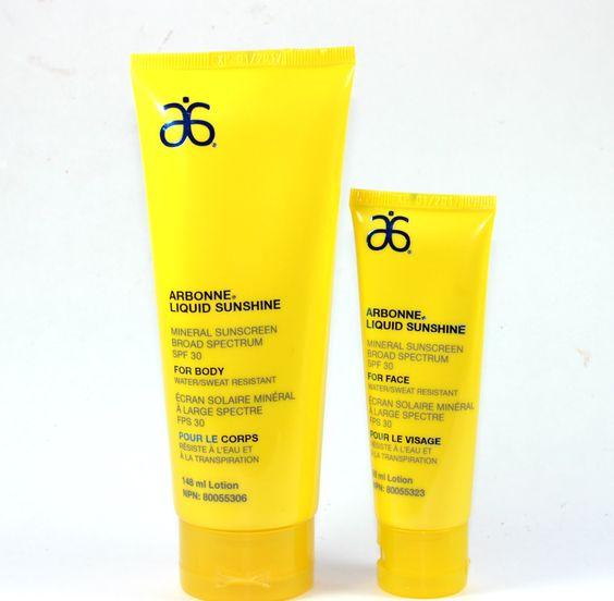 Arbonne Liquid Sunshine Mineral Sunscreen SPF 30 Face & Body - Review - Beautetude