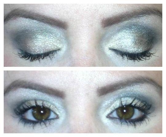 Cover FX Eye Primer review. Right eye has primer, left eye does not.
