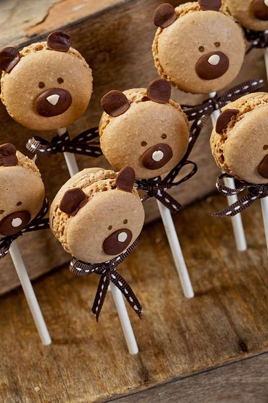 Blu e marrone orsacchiotto Baby Shower Idee per feste | Foto 7 di 24 | Catch My Partito