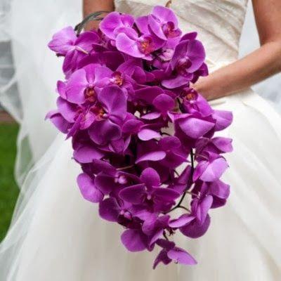 pantone radiant orchid. Orchid bridal bouquet.
