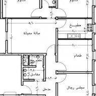 تصميم بناء منزل 150 متر House Floor Design House Map Family House Plans