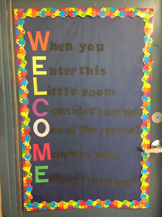 welcome to our class door decoration for third grade On class 9 decoration