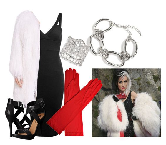 """Cruella De Vil- Once Upon A Time"" by indianna28-2002 ❤ liked on Polyvore featuring Miss Selfridge, Once Upon a Time, Adrienne Landau, Michael Antonio and Aurélie Bidermann"