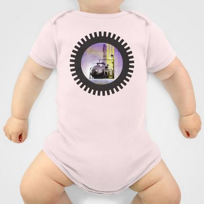 UNDER CONSTRUCTION II-B Onesie by Pia Schneider [atelier COLOUR-VISION] - $20.00 #collage #mixedmedia #digital #industry #environment #factory #political #protecting #iron #machines #graphicdesign #purple #black #yellowgreen #pia #piaschneider #ateliercolourvision #landscape #abstract #surreal #ocean #nature #technic #art #cool #modern #boys #girls #fashion #onesies #baby #babytees #clothing #babyclothing