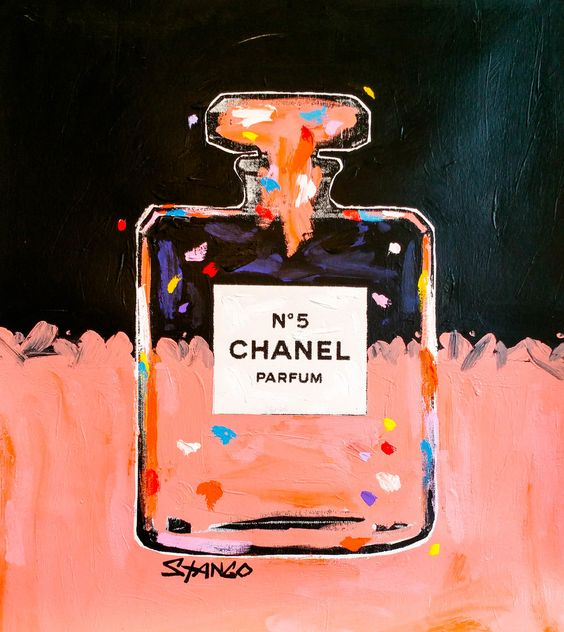 John Stango •Chanel in Peach •30 X 26 •Acrylic on Canvas // 408.888.1500 //jcos.hello@gmail for acquisition info