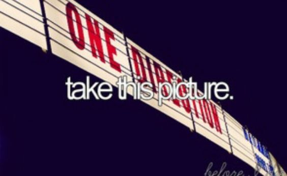 Go to a 1D concert - bucket list