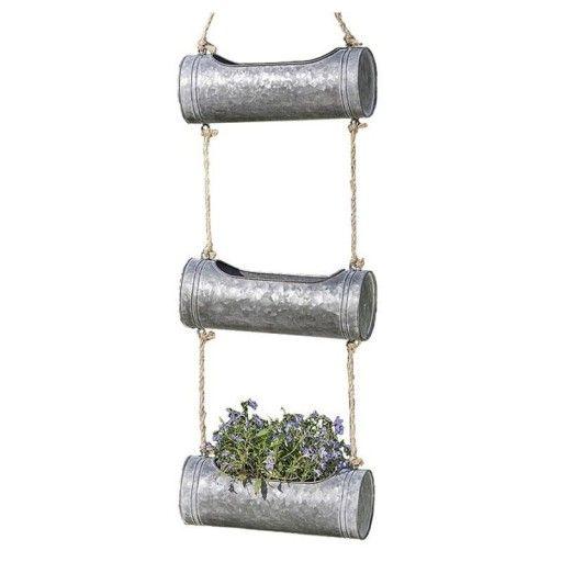 Szary Kwietnik Stojak Na Kwiaty Wiszacy Taras Loft 8082550245 Oficjalne Archiwum Allegro Diy Plants Toilet Paper Holder Paper Holder