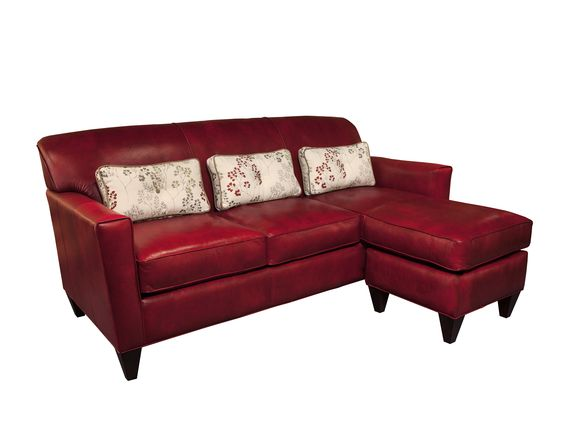 Essentially Yours Leather A8000A-03 & -59 Sofa with Chaise Ottoman