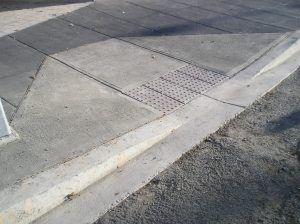 Nova rampa calçada