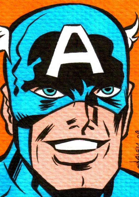 Captain America comic/pop art by Patrick Owsley.