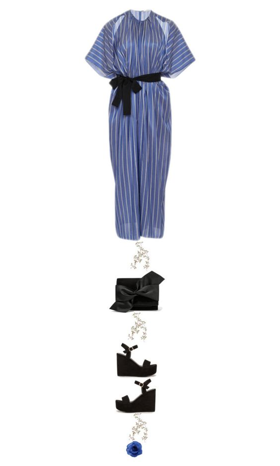"""""""blue jumpsuit"""" by juliehalloran ❤ liked on Polyvore featuring Tome, Nly Shoes, Victoria Beckham and Chanel"""