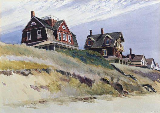 Edward Hopper. Cottages at Wellfleet, 1933.