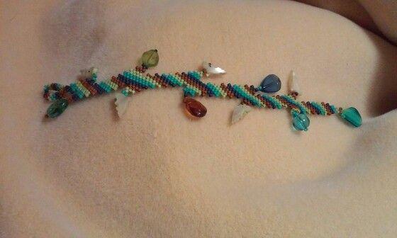 Diagonal Peyote Stitch Bracelet