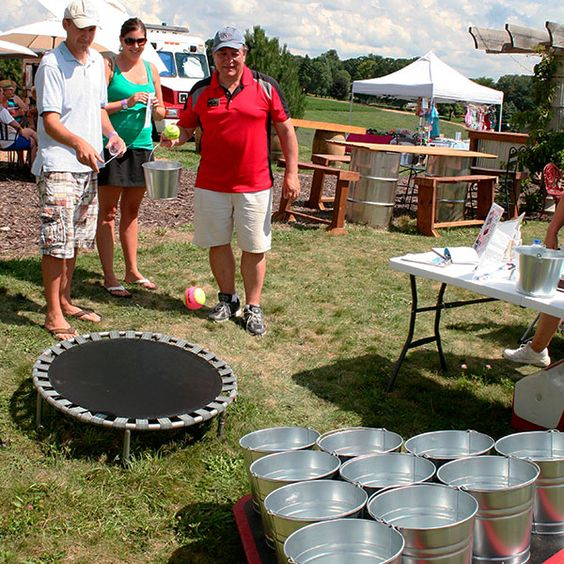 Bucket Toss at Schram Vineyards