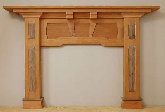 Craftsman mantels and mantles on pinterest for Craftsman style fireplace mantel plans