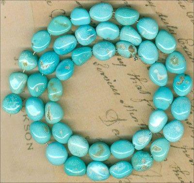 "Castle Dome Turquoise Beads Southwest Arizonausa ""Pinto Valley"" Genuine 16"" Strd | eBay"