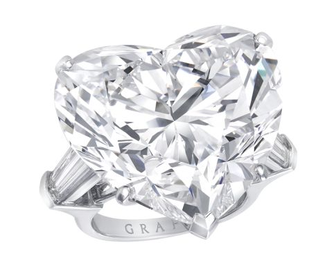 Graff White Heart Shape Diamond Ring