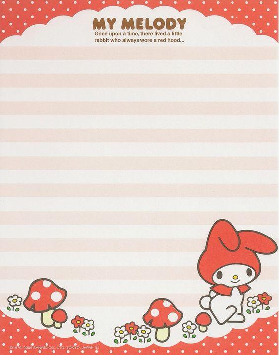 Kawaii memo paper - Sanrio - My Melody