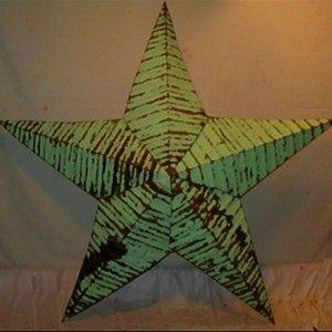 364697_290 Amish Tin Barn Star 12 Inch Light Green...kitchen