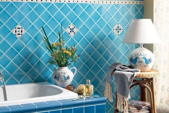 "#Cerasarda tile ""Verde acqua"" for bathroom - #bathroom #tile #design #concept #italian #roma #home #casa"