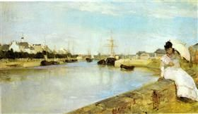 The Harbor at Lorient - Berthe Morisot