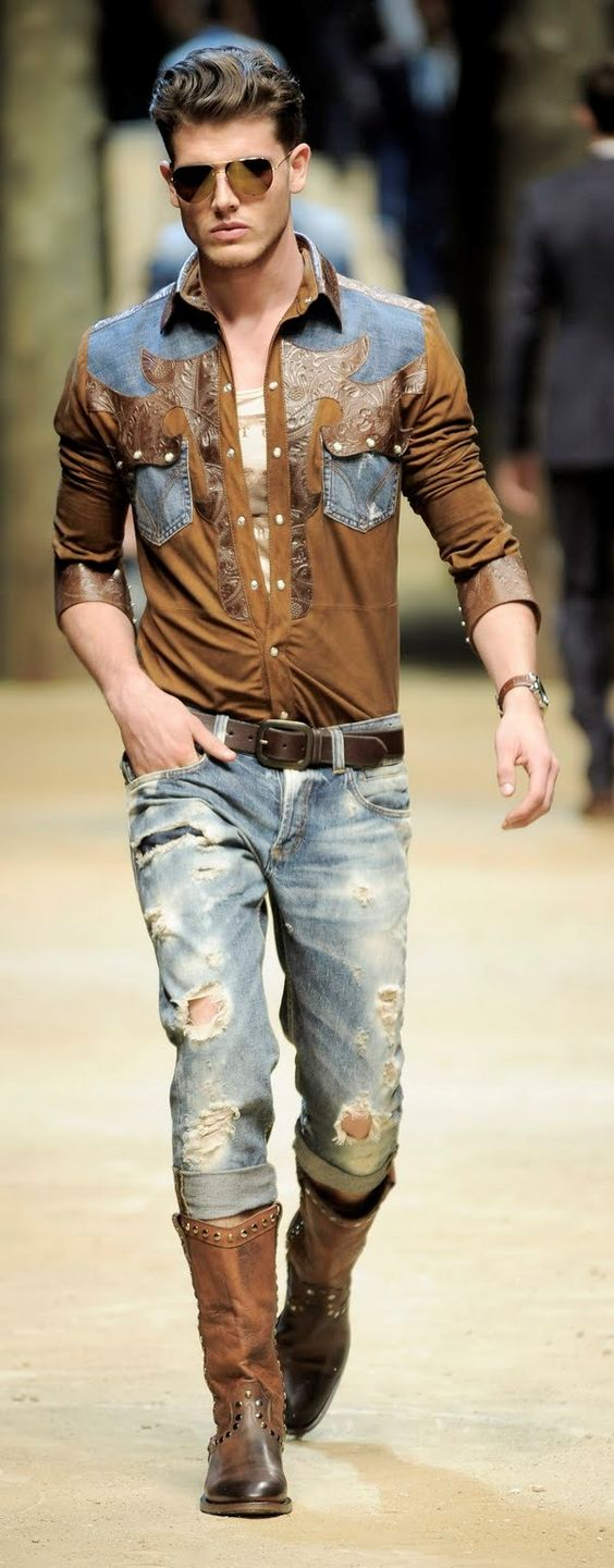 Outfits with Boots for Men cowboy fashion At Eagle Ages we loves