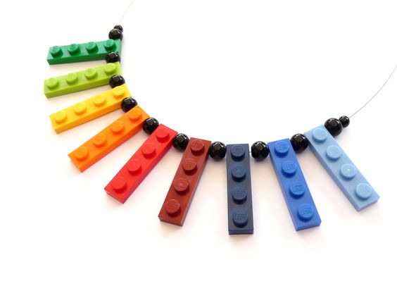 LEGO®  Upcycling Necklace - RAINBOW - Lego Jewelry from aroha - jewels & arts by DaWanda.com