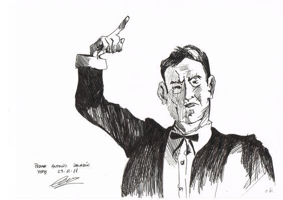 Dibujo a tinta.  Autor Pedro Palazon Yepes.