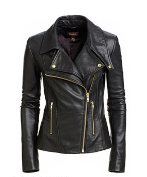 Leather jacket with gold – Modern fashion jacket photo blog